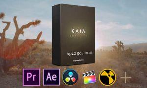 12套自然柔和LUTs调色预设Gaia 附教程,多软件可用