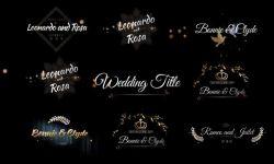 6款高贵美丽的婚礼标题标签设计