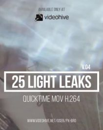 镜头漏光炫光光晕动画素材25个  Light Leaks Pack v4