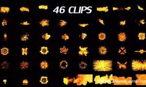 46个带Alpha通道的震撼火焰特效视频素材