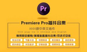 一键安装千款Premiere中英文插件合集