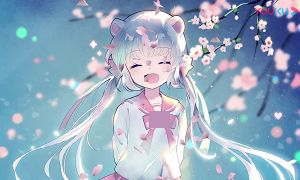唯美漂亮樱桃花瓣吹散飘舞洒落动画18组带透明通道