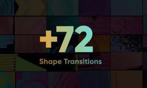 72+自然流畅图形形状转场动画素材包