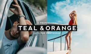20种专业蓝绿色和橙色风格LUTS视频调色预设(FCPX/PR/PS/AE/达...