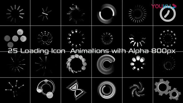 加载读取缓冲图形动画视频素材25个带透明通道