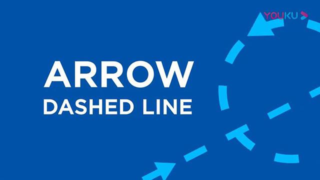 虚线路径箭头蚂蚁线走向动画视频素材40个 Arrow Dashed Line