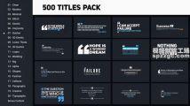 20种类多达500例的文字标题动画集模板,附超多漂亮的背景...