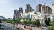 城市道路建筑延时摄影海南省海口市