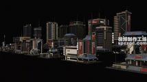 超稀有的C4D未来新上海城市模型素材