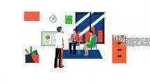 手绘商务办公会议插画创意主题元素