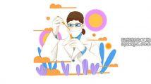 手绘冠状病毒实验医生设计形象元素