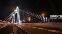 世纪大桥夜景延时摄影流光海南海口